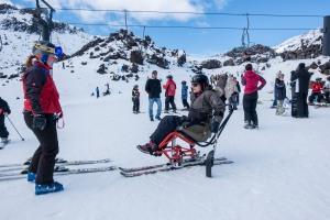Aurelie - I wheel travel - sit ski